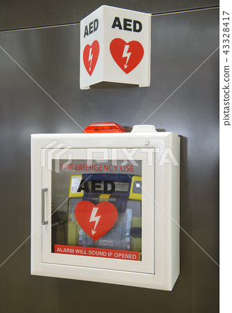 Automated External Defibrillator(AED) on the wall  43328417