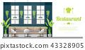Interior background , modern restaurant scene 43328905