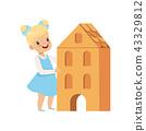 girl, cardboard, child 43329812