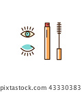 mascara, icon, makeup 43330383