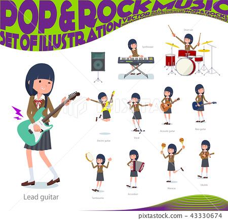 เด็กผู้หญิง,นักเรียนมัธยมปลาย,เครื่องดนตรี 43330674