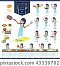 flat type school girl Brown Blazer_cooking 43330702