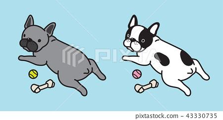 Dog vector french bulldog icon logo cartoon 43330735