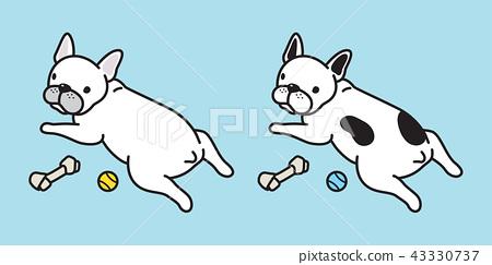 dog vector french bulldog icon logo pug bone dog 43330737