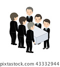 分娩插圖葬禮葬禮 43332944