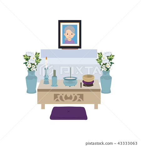 Home funeral illustration family funeral 43333063