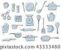 line, drawing, cookware 43333460