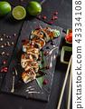 sushi on black background 43334108