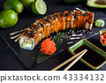 sushi on black background 43334132