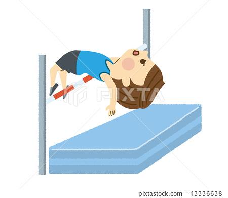 높이뛰기를하는 남성 43336638