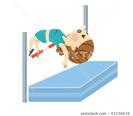 높이뛰기를하는 여성 43336639