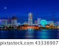从大码头看见的Minato Mirai夜视图 43336907