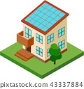 Solar power generation / house 43337884