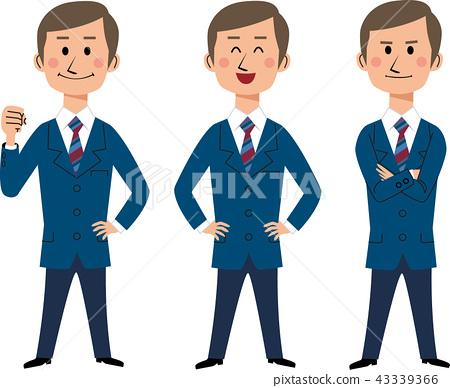 辦公室工作人員×3構成 43339366