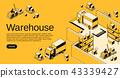 shipping truck forklift 43339427