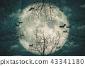 Halloween background, Trick or treat holiday. 43341180
