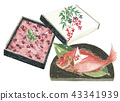 Red rice and celebratory bowl 43341939