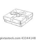 gift, box, sketch 43344148
