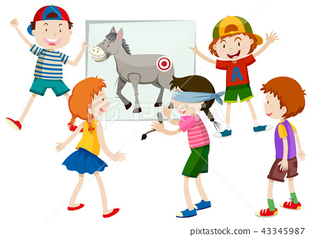 pin the tail on the donkey 43345987