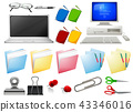 Computer and office objects 43346016