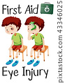 boy first aid eye injury 43346025