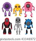 robots vector collection design 43346972