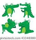 crocodile character vector design 43346980