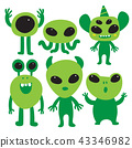 alien character collection design 43346982