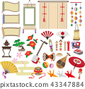 Japanese set of things 43347884