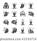 Headache icon set. 43350714