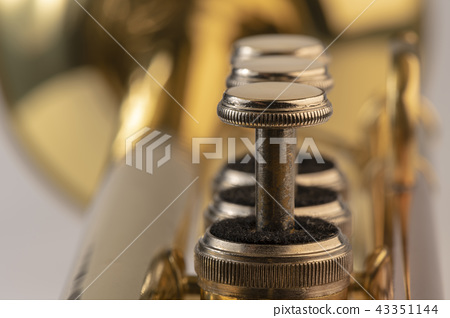 Musical instrument trumpet in detail. 43351144