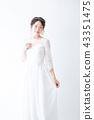 新娘 婚禮 一個年輕成年女性 43351475