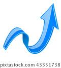 blue, arrow, 3d 43351738