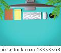 데스크, 책상, 컴퓨터 43353568
