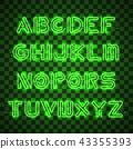 vector, neon, alphabet 43355393