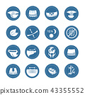Simple Set of Diaper Related Vector Icons 43355552