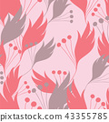 Colorful floral seamless background pattern 43355785