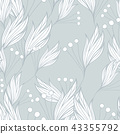 Floral seamless background pattern of hand - drawn elements 43355792