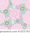 Colorful floral seamless background pattern 43355793