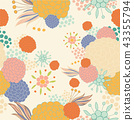 Colorful Floral Pattern 43355794