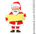 Santa Claus holding banner 43356032