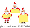 Santa Claus holding poster 43356636