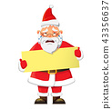 Santa Claus holding poster 43356637