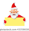 Santa Claus holding poster 43356638