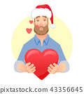 man gives heart 43356645