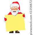 Santa Claus holding banner 43356672