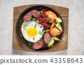 breakfast with blood sausage 43358643