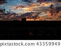 sunset, sky, landscape 43359949