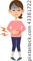 ผู้หญิงที่อุ้มท้องเพื่อปวดท้อง 43361722