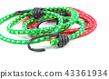 Elastic round rope with hooks on white 43361934